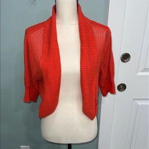 Torrid Plus size orange sweater shrug